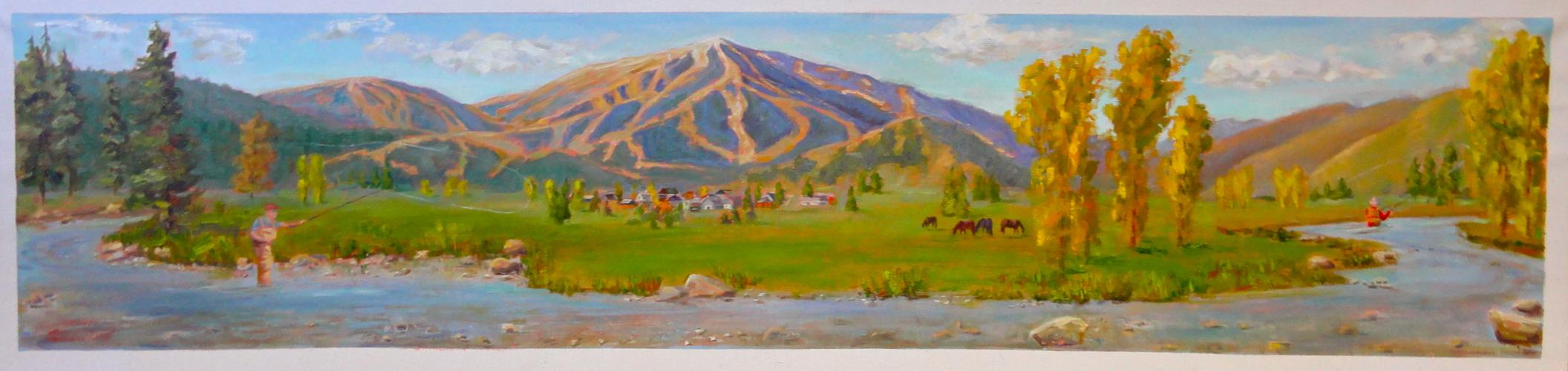 Sun Valley Wine Auction Original Painting