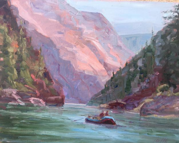 Middle Fork oil painting  from Jineen Griffith