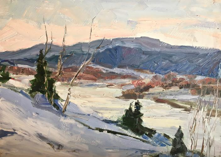 Winter in Valley 9x12