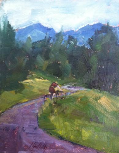 Plein air oil  painting from Jineen Griffith